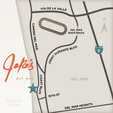 Jake's del mar map