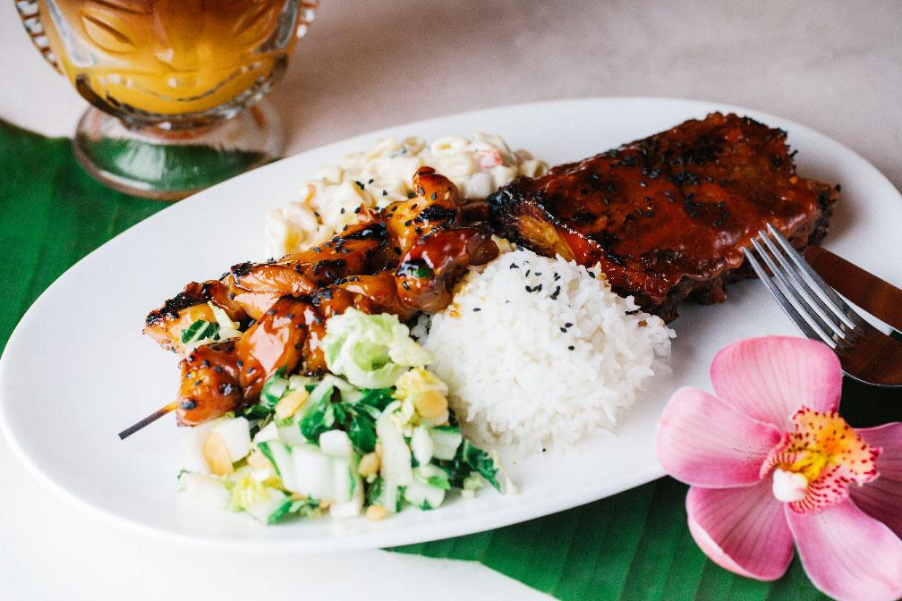 chicken lunch plate